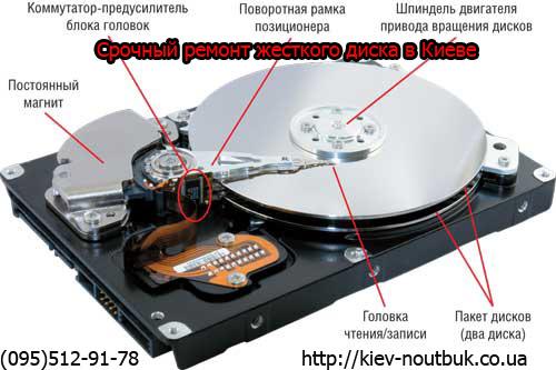 Замена жесткого диска ноутбука Дарница